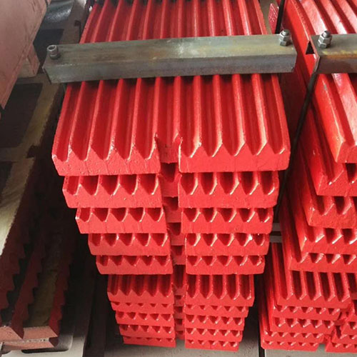 customized cast high manganese jaw plate