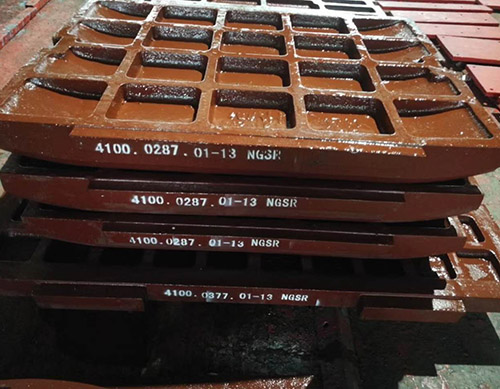 OEM cast high manganese jaw plate