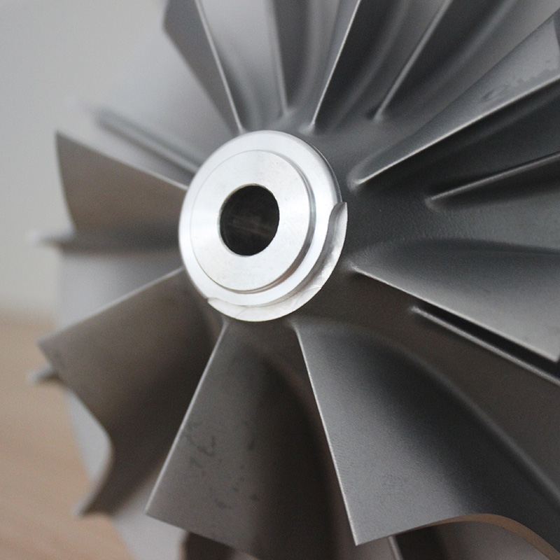 Turbocharger turbine impeller, compressor impeller
